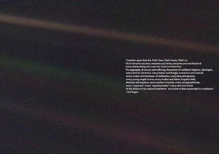 Carl Sagan Quote: The Pale Blue Dot. Space Print/Poster/Canvas. Sizes: A1/A2/A3/A4